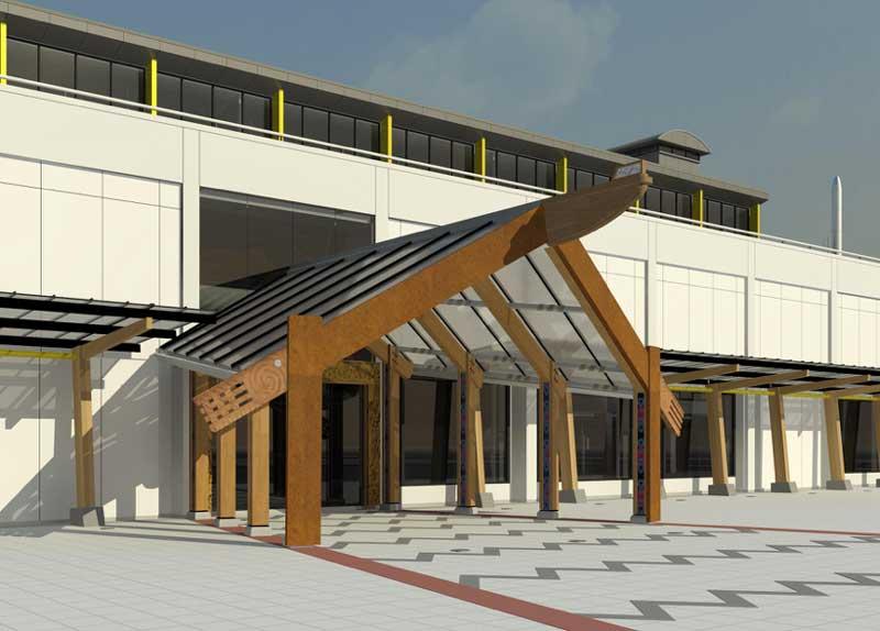 mahau Enhance The New Library and Health Hub Entrance!