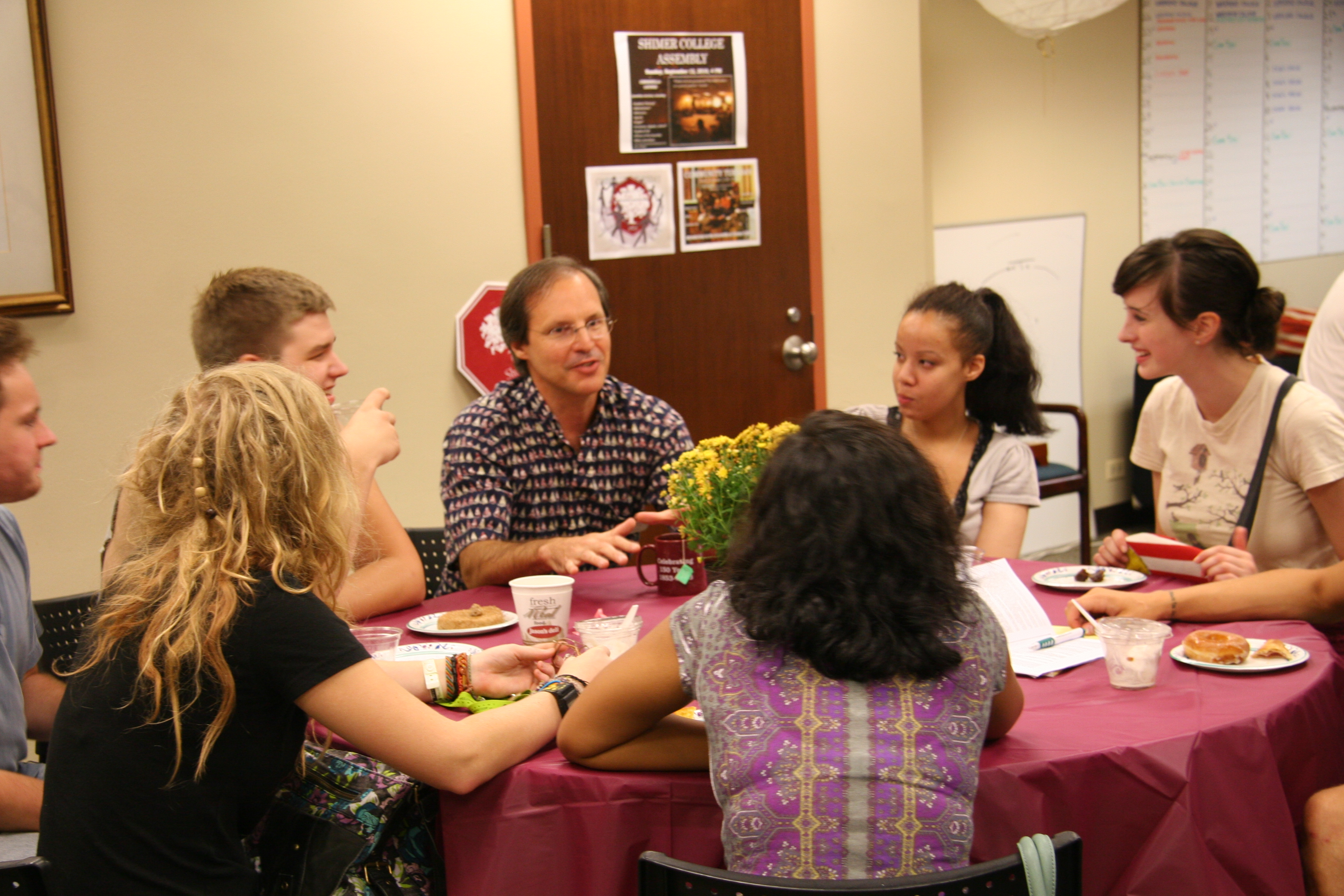 Shimer_College_conversation_with_students_2010 Home