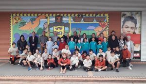 1-300x173 Five new murals by Rotorua school students installed at Rotorua Airport today