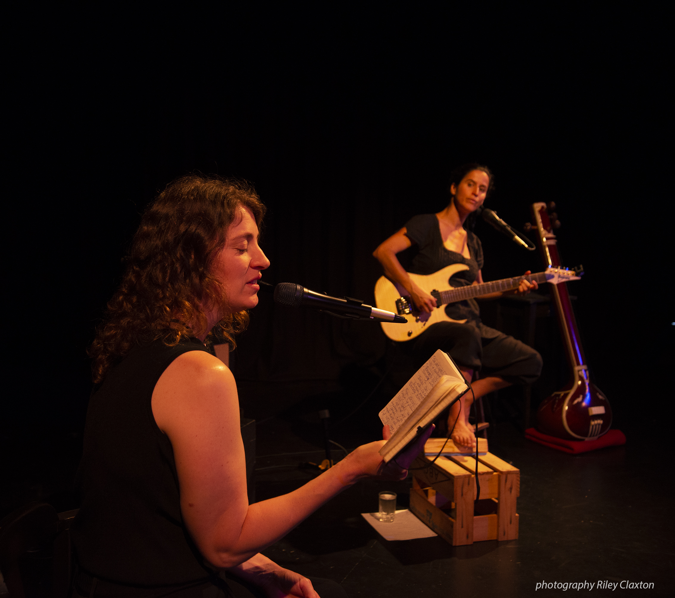 Angela Frank and Tui Mamaki perform Fly. Photo courtesy Riley Claxton