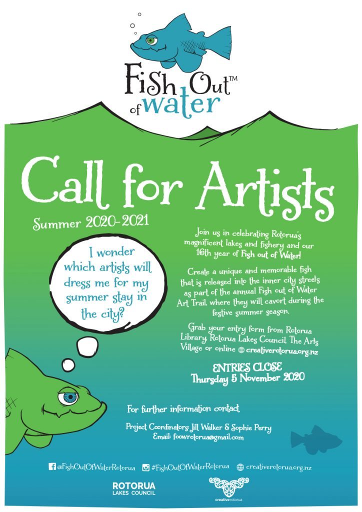 Fish-Out-of-Water-2020-ONLINE-Call-for-Artists-poster-724x1024 Fish Out Of Water – Call for Artists!